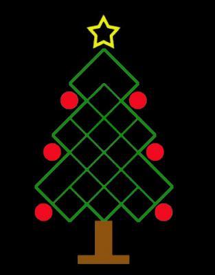 ¿Cuántos cuadrados hay en este árbol navideño?